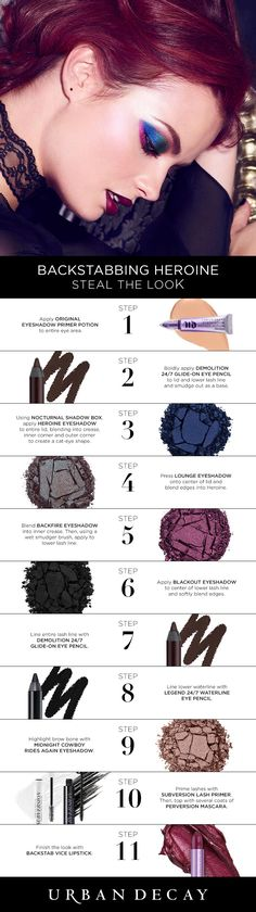 Take a hit of color with this bold look using our new Nocturnal Palette and lipsticks. Get the how-to with the simple steps below!