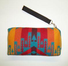 Clutch Pendleton Wool Purse Wrist Bag Clutch Bag by timberlineltd, $30.00