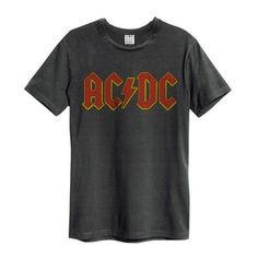 ACDC LOGO T-SHIRT ❤ liked on Polyvore featuring tops, t-shirts, logo tee, logo t shirts and logo tops