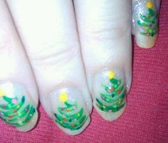 Christmas nails designed by me