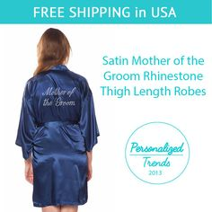 Navy Blue Satin Mother of the Groom Thigh by PersonalizedTrends
