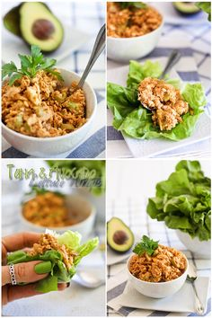 Tuna Avocado Lettuce Wraps | The Healthy Foodie (Also really good with salmon instead of tuna)