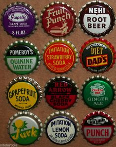 Soda pop bottle caps POMEROYS QUININE Lot of 2 cork lined unused new old stock