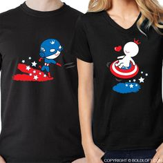 Cute Valentine's Day gift for boyfriend- Invite them into your heart with this endearing shirt set that exclaims All I Want is You! BoldLoft All I Want is You™ His & Hers Matching Couple Shirts Black-Captain America Shirt-Superhero Gift – BOLDLOFT Cute Couple Shirts, Couple Tees, Matching Couple Shirts, Matching Couples, Valentine Gifts For Girlfriend, Cute Valentines Day Gifts, Gifts For Your Boyfriend, Captain America Shirt, Superhero Gifts
