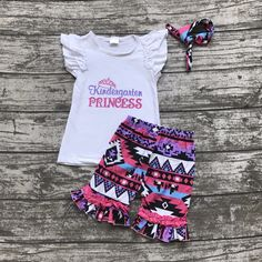 11.00$  Buy here - back to school otufits girl shorts sets Kindergarten princess clothing cotton Aztec summer girl boutique shorts with headband  #SHOPPING