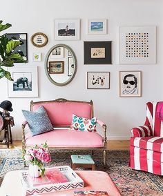 I first shared artist Kate Schelter's colorful Manhattan home last year, but lucky for us, it's since been photographed by One Kings Lane. Kate's unapologetically preppy watercolors are at the top of my art collecting wish list and I am beyond excited for her first book, Classic Style, which comes out in May. Below, explore Kate's gorgeous home …