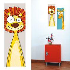 Tableau décoratif chambre enfant Tête de Lion Acte Deco