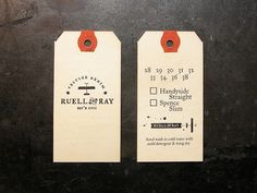 Ruell & Ray Hang Tag by Cranky Pressman