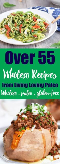 Over 55 Whole30 recipes from Living Loving Paleo | With so many delicious and easy recipes to choose from, you'll never be bored, whether you're currently doing a Whole30 or looking to enjoy more real food!