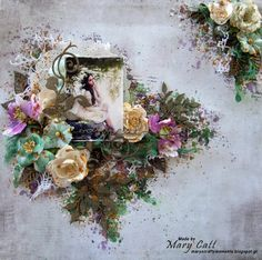 Mary's Crafty Moments: ''Magical'' - A DT Layout for 2Crafty Chipboard wi...