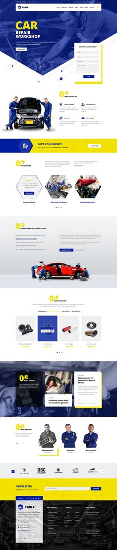 Carle - Car Service and Shop PSD Template - PSD Templates | ThemeForest: