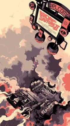 Regreso al Futuro II por Mondo Posters