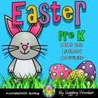 Easter Math and Literacy Activities Pre K by Giggling Wombat | Teachers Pay Teachers
