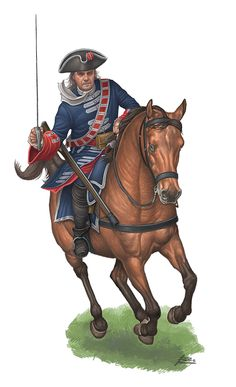 Trooper of the Spanish Royal Guards at Almansa 1707 by Angel Garcia Pinto