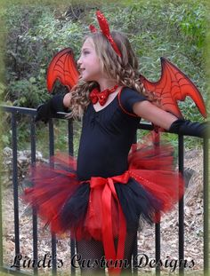 """Little Devil Toddler Girl Tutu Costume for Pageants, Parties, Halloween, Photography Prop 2 - 5T up to a 23"""" waist"""