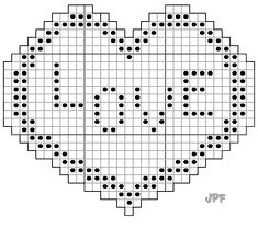 Image of Stitch Chart For Heart Filet Doily