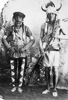 Cree Warriors Late 1800's - Note the Outdated Flint Lock Rifle
