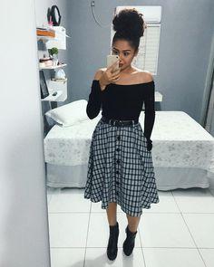 """48.5 mil curtidas, 675 comentários - V A N D R E S S A (@vandressarib) no Instagram: """"Look do culto. 😍 Eu precisava registrar esse look! Acho que encontrei a combinação perfeita, né ?…"""" Modest Wear, Modest Outfits, Skirt Outfits, Trendy Outfits, Casual Dresses, Cute Outfits, Cute Fashion, Modest Fashion, Fashion Dresses"""