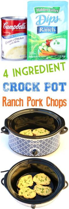 Add this delicious Crockpot Ranch Pork Chops Recipe to your menu this week! Just 4 Ingredients and you've got a new family favorite! Are you wondering how to make pork chops in the Crockpot? The f