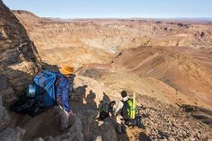 How to survive hiking the Fish River Canyon - Getaway Magazine Way Down, Hiking Gear, Sunscreen, Flashlight, Branches, Grand Canyon, Backpack, Survival, Challenges