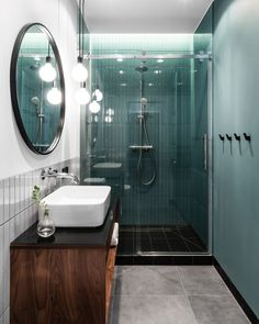 Small modern apartment with a separate bedroom in Gdansk 38 sqm PUFIK Beautiful Interiors Online Magazine Apartment Interior Design, Bathroom Interior Design, Apartment Ideas, Toilet And Bathroom Design, Apartment Bedrooms, Cozy Apartment, Interior Livingroom, Interior Designing, Home Interior