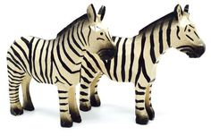 "A hand-carved pair of Zebras, 2-5/8"" tall. Wood-turned, hand-carved, hand-painted. From Christian Werner's Size Large Noah's Ark - buy One (1 x1) or the Pair (2 x 2). Enjoy the classic folk art of ring-turning - Reifendrehen - since the 1800s. SHOP at www.mygrowingtraditions.com"
