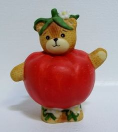 Enesco Lucy & Me Teddy Bear Vegetable Tomato Lucy Rigg