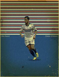 Famous Footballers 4 by Jon Rogers, via Behance #soccer #poster