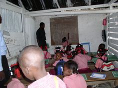 Classroom at the Siloe church/school which is now gone, destroyed by the earthquake