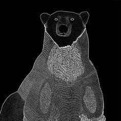 Sweatshirt BEAR with a custom illustration by Marcelina Jarnuszkiewicz.