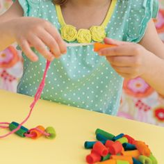 Pasta Beads - lots of recipes out there - this from Family Fun magazine