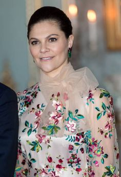 Crown Princess Victoria of Sweden poses head of a lunch at the Royal Palace of Stockholm on January 30 2018 in Stockholm Sweden Victoria Prince, Princess Victoria Of Sweden, Crown Princess Victoria, Princess Kate, Olaf, Kate And Meghan, Swedish Royalty, Royal Clothing, Crown Royal