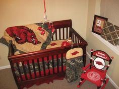 Custom Razorback Crib Bedding by AROE on Etsy