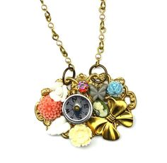 Collectors Necklace Vintage Style Compass Cameo by MargaretKelly