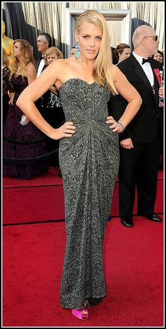 Busy Phillips 2012 Oscars #celebrities #celebrityfashion #redcarpet