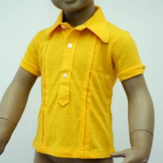 cute short sleeve button down shirt for a little child. $12,00, via Etsy.