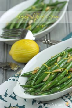 Lemony Green Beans | Cooking on the Front Burner #lemongreenbeans #lowcalorie