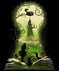 Alice in wonderland art Alice In Wonderland Paintings, Alice And Wonderland Tattoos, Arte Disney, Disney Art, Pinturas Disney, Wonderland Party, Disney Wallpaper, Fantasy Art, Illustration