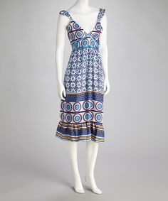Blue & White Circle Dress