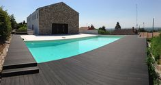 #Exterior design Decorative concrete has opened the door to creating swimming pool deep embossed decks that complement the exterior of the home.If you interested,just click the website and leave message on it.