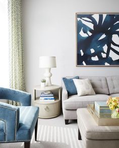 You know how we love shades of blue around here! This living room by @nicolegibbonsstyle definitely fits the bill. And with that intro were opening up this weeks room redo vote! This is the 1st entry. Like it if youd like to see it be our next room redo! #CopyCatChic