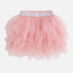 8d3eea0e5 Falda corta de niña en tul Chicle - Mayoral Faldas Para Dama