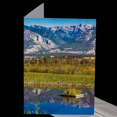 Water Reflections, Blank Cards, Pacific Northwest, Rocky Mountains, Photo Greeting Cards, Note Cards, Thankful, Etsy Shop, Hdr