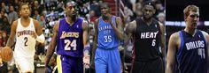kyrie irving shoe line | Kyrie Irving Kobe Bryant Kevin Durant Lebron James Dirk Nowitzki NBA