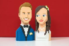 3D Wedding Tailored Figures Bride Groom and by Promessedunevie