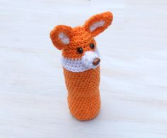 Bottle cozy Baby bottle sleeve For kids Crochet cozy Water bottle cover Animal…