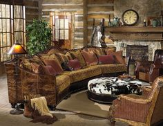 Western Sectional|Rustic Sectional|Western Family Room|Anteks Home Furnishings