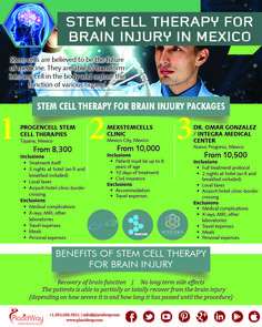Can stem cells repair brain damage? #stemcell therapy for brain injury in #Mexico. Know the benefits of stem cell treatments abroad. Contact Placidway #medicaltourism for more details.