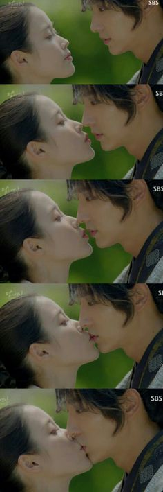 Lee Ji Eun kissing Lee Jun Ki Moon Lovers Scarlet Heart ryeo eps 14