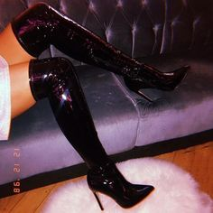 Fashionable shoe boutique, selling trendy shoes to fashion forward girls without breaking the bank! Check out the most wanted shoes. Thigh High Boots, High Heel Boots, Over The Knee Boots, Heeled Boots, High Heels, Stilettos, Black Heels, Trendy Shoes, Cute Shoes